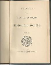 1877 NEW HAVEN (CONNECTICUT) HISTORICAL SOCIETY PAPER II, SIGNED BY F.J. KINSBUR