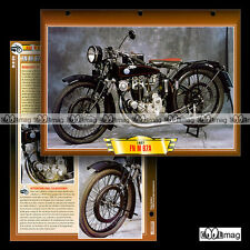 #135.09 Fiche Moto FN FABRIQUE NATIONALE M67 A 1927 Classic Bike Motorcycle