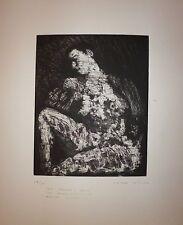 Pablo Rufo Gravure Originale Signée Numérotée dédicacée art abstrait erotic