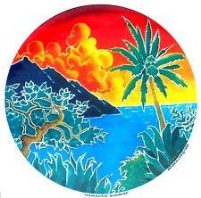 HAWAII SUNRISE Tropical 2 sided window sticker