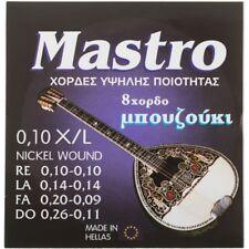 Greek Bouzouki Strings Mastro Nickelplated 10-26 Set, 8-string, Made in Greece