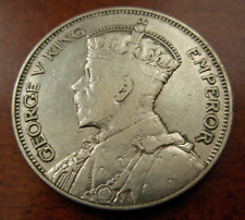 New listing New Zealand 1933 Silver 1/2 Crown Xf George V