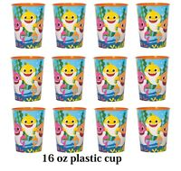 Baby Shark Lot of 12 16oz Party Plastic Cup ~Party Favor Supplies