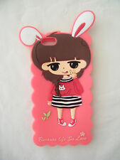 Iphone 6 Cover Case Silicone Gel Cute girl bunny ears Au stock fast post
