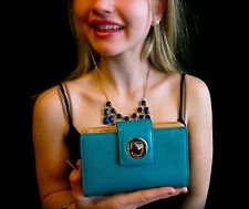 Kate Spade New York to DIE FOR Madison Ave Revelry JULES wallet clutch aqua teal