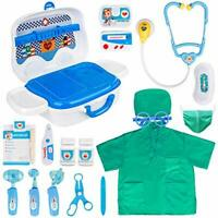 NEW Doctors Set for Kids - Toy Doctors Kit and Pretend Play Surgeon Costume