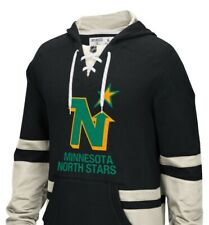 MINNESOTA NORTH STARS Hockey Sweatshirt Hoodie Men Small Skate Lace Jersey Wild