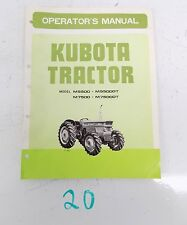 KUBOTA TRACTOR M5500 M5500DT M7500 M7500DT OPERATOR'S OWNER'S MANUAL