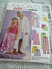 McCall's 3906Sz Girls M/L/Xlrg Easy Gown/Robe/top/pants  Uncut  Sewing Pattern