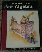 CPM Foundations Algebra YR 2 Vol 2 Math Mathematics 1-10 Grade 9-11 COLLEGE PREP
