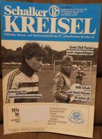 FC Schalke 04 Schalker Kreisel Magazin 23.10.1988 Bundesliga SpVgg Bayreuth /166