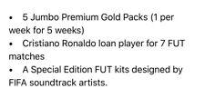 FIFA 19 Ultimate Team 5 Jumbo Premium Gold Packs / Ronaldo FUT Player / FUT Kits