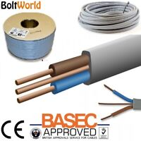 6mm Twin and Earth LSF Cable T/&E White Radial Socket Circuits BASEC Approved