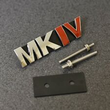MKIV Grill Emblem Badge Decal Sticker MK4 Mark 4 Logo Front VW Seat Skoda G*