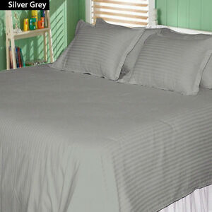 Queen XL Size 1000 TC Egyptian Cotton 4 PC Bed Sheet Set All Solid&Stripe Colors