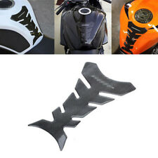 Carbon Fiber New Motorcycle Tank Pad Protector Sticker Decal Kit Gas Fuel Black