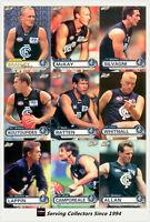 2001 ESP AFL Heroes Trading Card Base Card Team Set Calton (9)