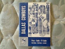 1961 DALLAS COWBOYS MEDIA GUIDE Press Book Yearbook Program NFL Football AD