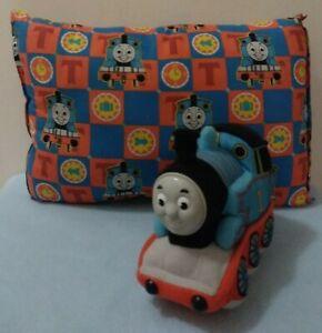 Vintage Lot Thomas The Train Kids Rectangle Throw Pillow & Plush Toy Rubber Face