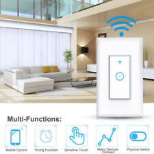 Set Smart LED Light  WiFi Wall Touch Switch Way Work For Alexa Google Life
