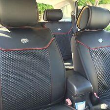 Seat Cover Shift Knob Belt Steering Wheel Black Red Trim PVC Leather 31001C3 SUV