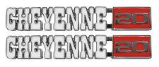 1971 1972 Chevy Truck Front Fender Emblem Pair Cheyenne 20