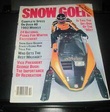 Vintage Snow Goer magazine 1982 polaris yamaha ski doo