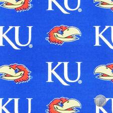 NCAA Kansas University Jayhawks Cotton Twill Team Fabric by the Yard