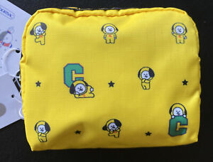 LeSportsac BTS Collection Square Mini Cosmetic BT21 Line Friends Chimmy New