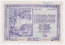 YUGOSLAVIA 100 DINARA 1950, National loan, Obligation, Very rarre bond stock !