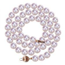 Perlen-Sets aus Gelbgold mit Akoya-Ketten