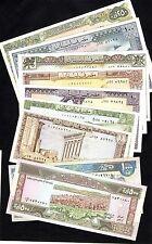 Liban - Lot de 9 billets NEUFS - UNC