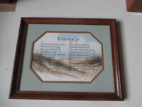 Home Interiors Framed Print Poem The Footprints of God Gail & Ken Brown 1984