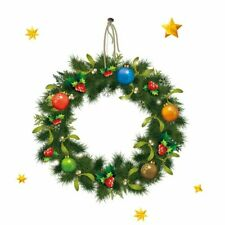 Wall Wreath Garland Stickers Christmas Window Decorations Pastoral Accessory New