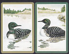 2 Great Northern Diver Water Birds Swap/Playing 2 Single Cards