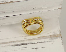 Apple Ornament Ring Statement 18k Gold Plated