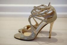 Jimmy Choo 37.5 very used lang gold sandals