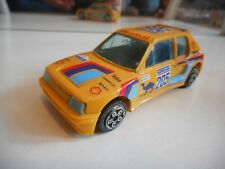 Bburago Burago Peugeot 205 Turbo 16 in Yellow on 1:43
