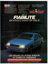 1987 DODGE Shadow Vintage Original Print AD - Plymouth Sundance Chrysler Canada