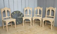 Gothic Solid Oak Kitchen or Dining Church Chairs - Chapel, Reproduction