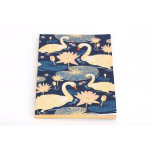Navy Blue and Gold Swan Note Book A5 Ladies Mens Stationery Gifts