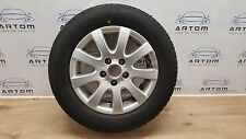VW GOLF MK5 15 INCH ALLOY WHEEL WITH TYRE 195/65/R16 TREAD 4.32mm
