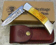 NAHC North American Hunting Club Knife Limited Ed Folding Blade Lockbck w sheath