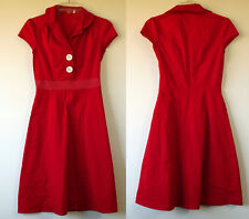 a849646238cd Ruby Rox Red Retro Pin-Up Stretch Cotton Cap Sleeve Dress 3 JR Made in