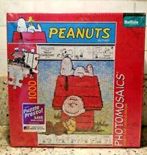 PEANUTS Photomosaics 1000 Piece Puzzle CHARLIE BROWN & SNOOPY Bonus Poster NEW!!