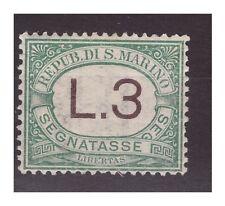 SAN MARINO 1925 -  SEGNATASSE LIRE 3   NUOVO **