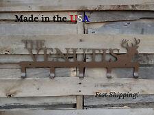 Hunter's Metal Rack-Deer Head Design-Hunting Decor-Coat Rack-Deer Art-CR1011
