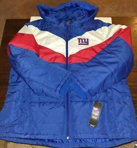 NEW YORK NY GIANTS G-III WOMEN'S SIZE 2XL FULL ZIP JACKET HOOD NFL NEW WITH TAG