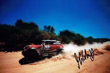 Mikko HIRVONEN SIGNED AUTOGRAPH 12x8 John Cooper Works Mini AFTAL COA WRC