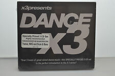 Dance X3  3 CD box set  3 hours of Dance music New and sealed (B32)